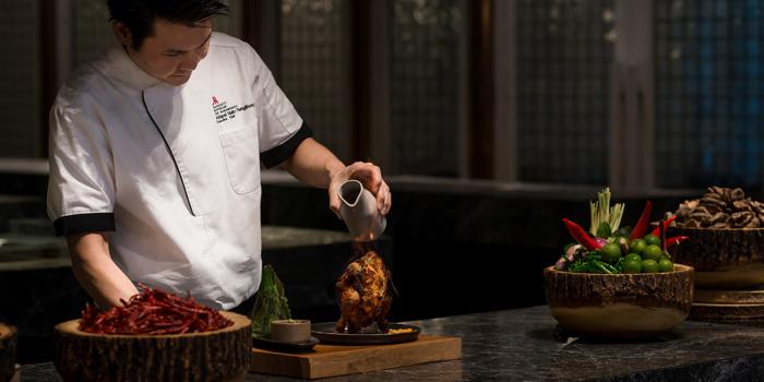 Chicken Volcano from Praya Kitchen at Marriott Bangkok Hotel The Surawongse Surawong Road, Si Phraya Bangrak, Bangkok