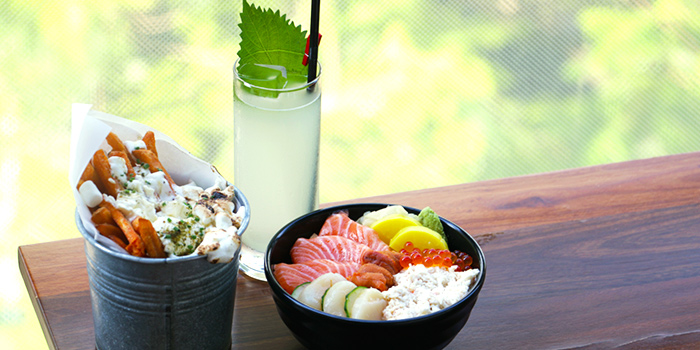 Chirashi and Wham Fries from Tanuki Raw at Orchard Central in Orchard, Singapore