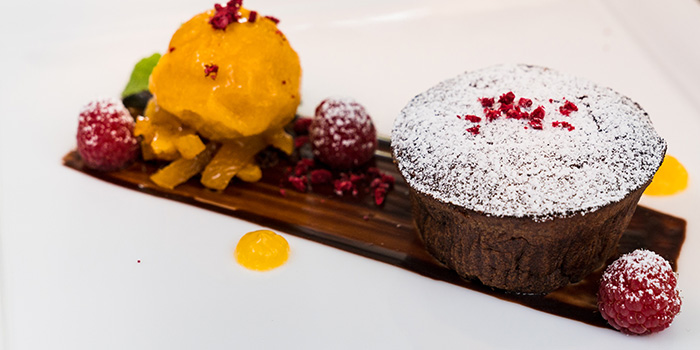 Chocolate Lava Cake from the Cliff in Sentosa, Singapore
