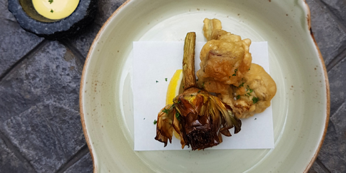 Deep Fried Artichoke from La Casa Nostra at 22 Sathorn 1 Alley Yak 2 (Soi Goethe) Thung Maha Mek Sathorn, Bangkok