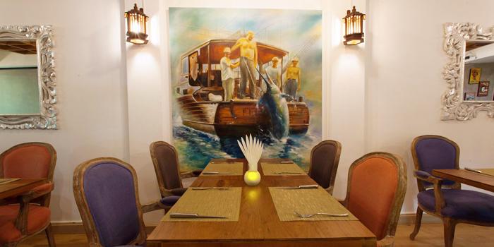 Dining Area of La Cantina Steakhouse in Rawai, Phuket, Thailand.