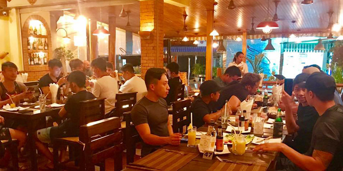 Dining-Session of La Cantina Steakhouse in Rawai, Phuket, Thailand.
