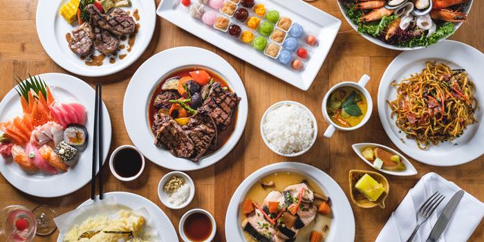 Food Variety from Feast at Royal Orchid Sheraton Hotel & Towers, Bangkok