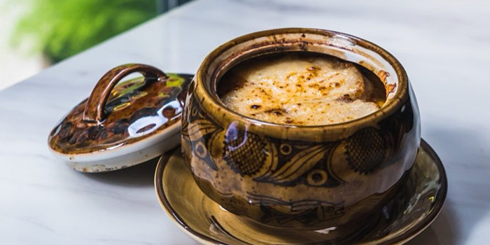 French Onion Soup, Dose Restaurant and Bar, Central, Hong Kong
