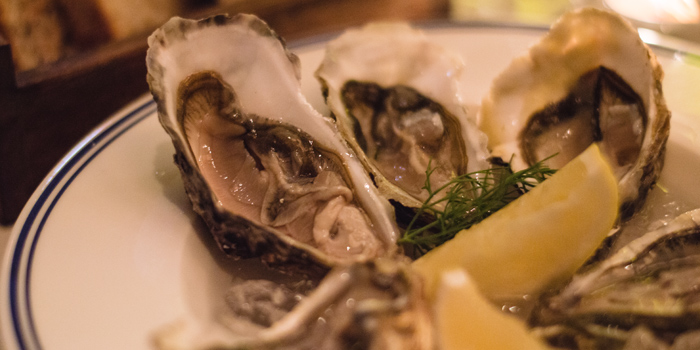 Fresh Oysters from Brasserie Cordonnier in Sukhumvit Soi 11, Bangkok