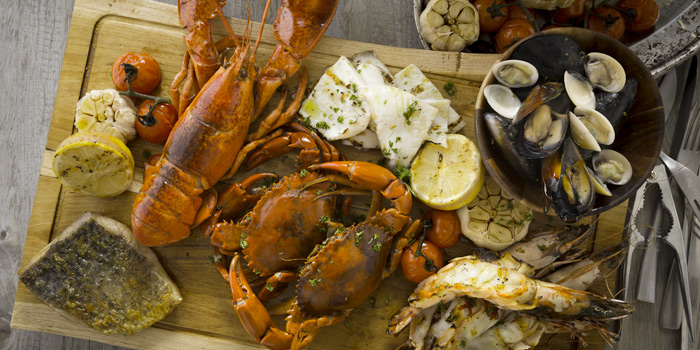 Grilled-Seafood-Plate from Sea Salt Lounge & Grill in Patong, Phuket, Thailand.