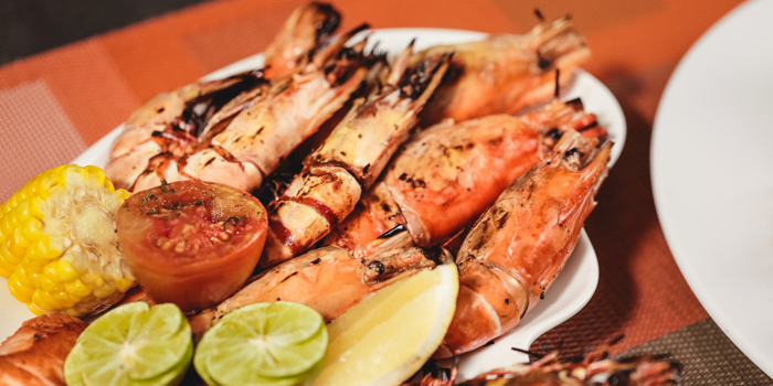 Grilled Tiger Prawns from Feast at Royal Orchid Sheraton Hotel & Towers, Bangkok