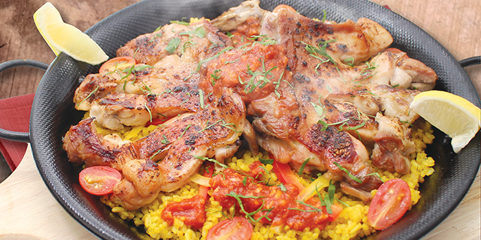 Grilled Whole Chicken Thigh Paella, PASTAHOLIC, Causeway Bay, Hong Kong