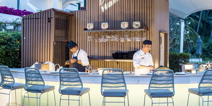 Sushi-Bar of Hansha in Nai Harn, Phuket, Thailand.