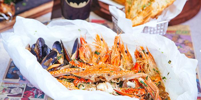 Hot Crustacean Treasure Bag from DC Super Heroes Cafe (Takashimaya) in Orchard, Singapore
