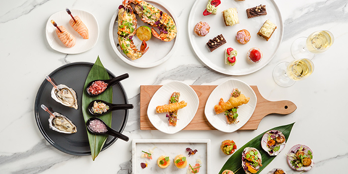 Afternoon Tea Spread from Lobby Lounge at The Westin Singapore in Marina Bay, Singapore