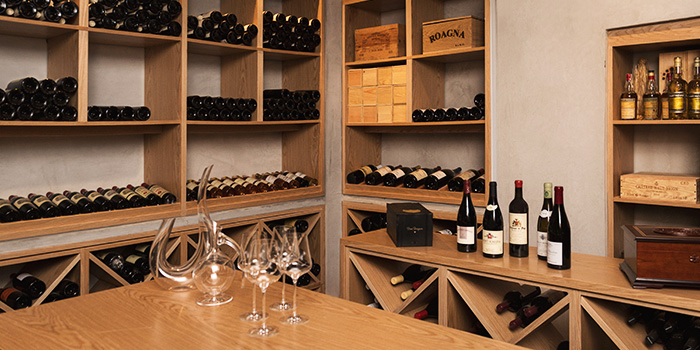 Wine Cellar of Ma Cuisine in Tanjong Pagar, Singapore