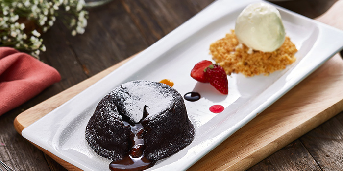 Molten Chocolate Lava Cake from Citrus by The Pool at Woodlands Swimming Complex in Woodlands, Singapore