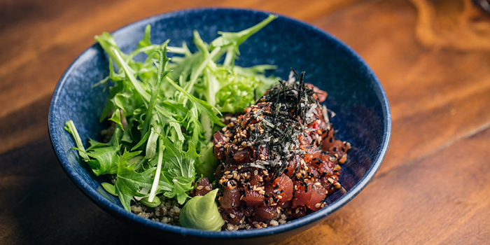 Spicy Tuna & Quinoa Bowl from Moosehead Kitchen & Bar on Telok Ayer Street in Raffles Place, Singapore
