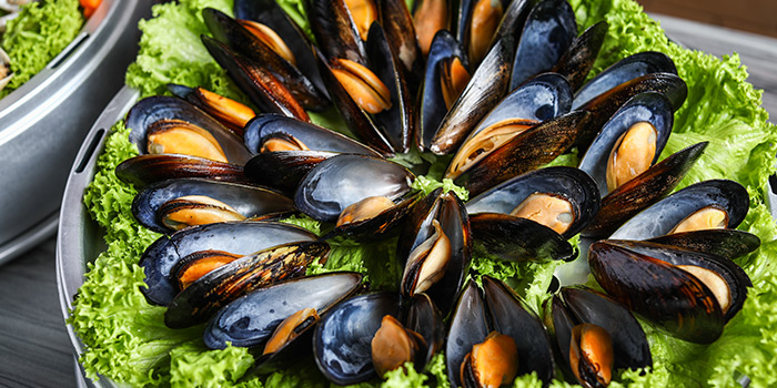 Mussels from Captain K Seafood Tower (Middle Road) at Midland House in Bugis, Singapore