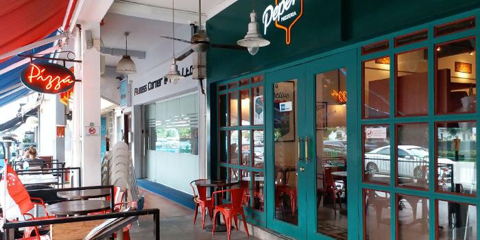 Interior of Peperoni Pizzeria along Frankel Avenue in East Coast, Singapore