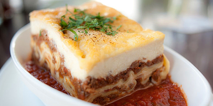 Lasagna from Peperoni Pizzeria along Zion Road in River Valley, Singapore