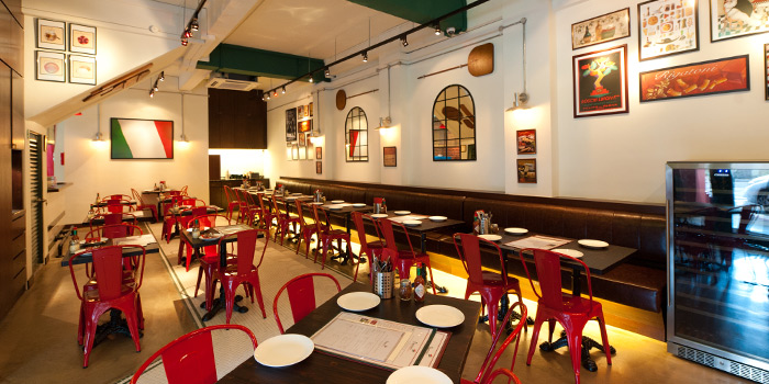 Interior of Peperoni Pizzeria along Zion Road in River Valley, Singapore