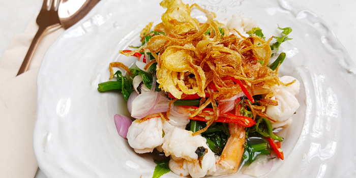 Phuket Fern with Prawns Salad from Tantitium in Phuket Town, Muang, Phuket, Thailand