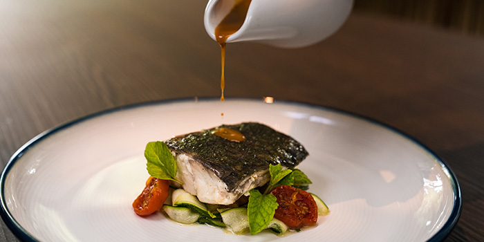 Poached Seabream from the Cliff in Sentosa, Singapore