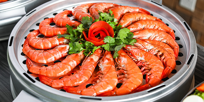 Prawns from Captain K Seafood Tower at Midland House in Bugis, Singapore