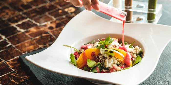 Quinoa and Arugula Salad from Riverside Grill at Royal Orchid Sheraton Hotel & Towers, Bangkok