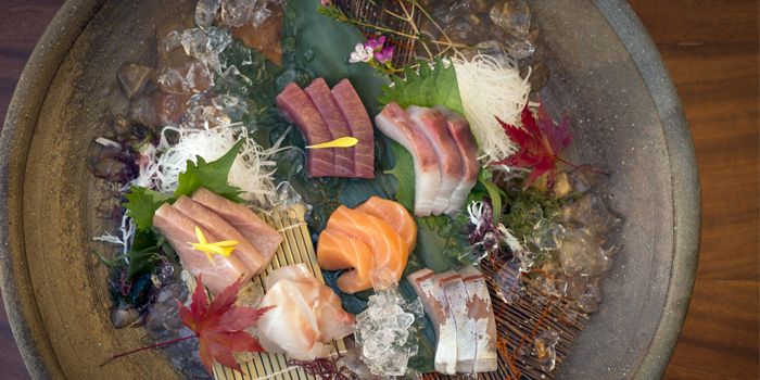Sashimi Moriawase from Nama in Cherngtalay, Phuket, Thailand.