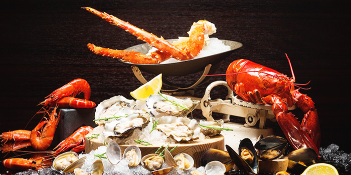 Sunday Champagne Buffet Brunch Seafood on Ice from Ash & Elm in InterContinental Singapore in Bugis, Singapore