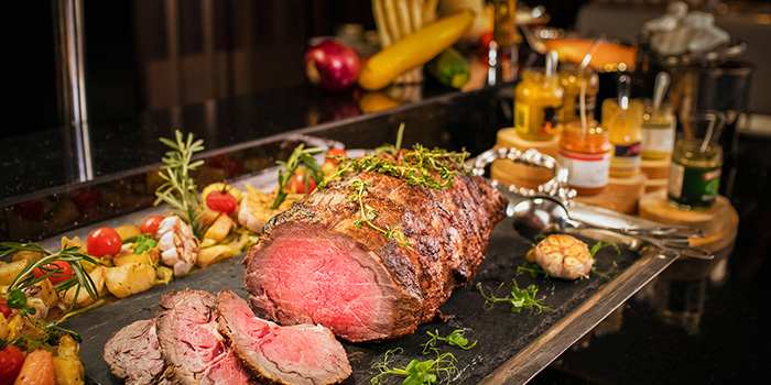 Sunday Champagne Buffet Brunch Roast Beef from Ash & Elm in InterContinental Singapore in Bugis, Singapore