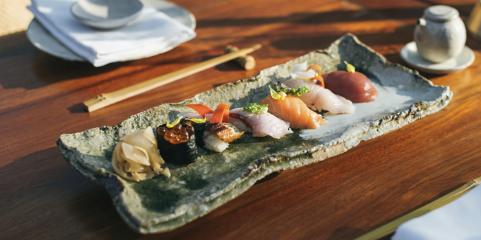 Sushi Platter from Nama in Cherngtalay, Phuket, Thailand.