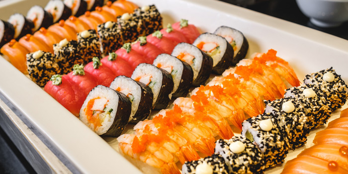 Sushi & Rolls Selection from Feast at Royal Orchid Sheraton Hotel & Towers, Bangkok