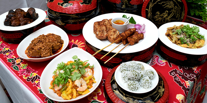 Food Spread from True Blue Cuisine at Armenian Street in City Hall, Singapore