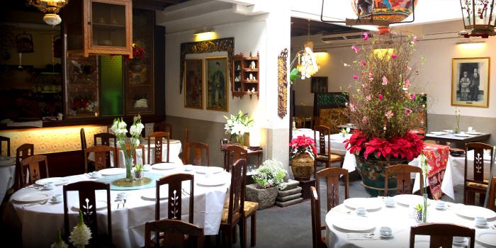 Interior of True Blue Cuisine at Armenian Street in City Hall, Singapore