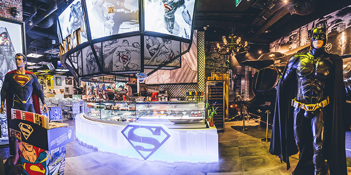 Interior of DC Super Heroes Cafe (Takashimaya) in Orchard, Singapore