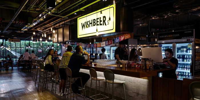 The Bar Counter from Wishbeer Home Bar at The Street Ratchada Ratchadaohisek Road Din Daeng, Bangkok