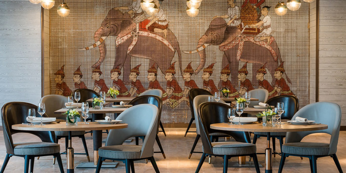 The Dining Area from Praya Kitchen at Marriott Bangkok Hotel The Surawongse Surawong Road, Si Phraya Bangrak, Bangkok