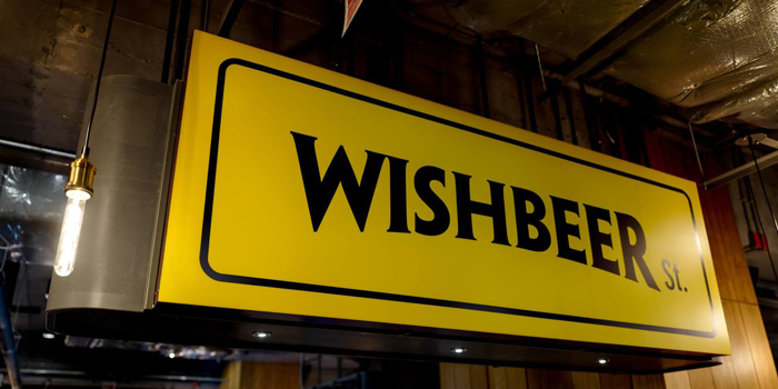 The Sign from Wishbeer Home Bar at The Street Ratchada Ratchadaohisek Road Din Daeng, Bangkok