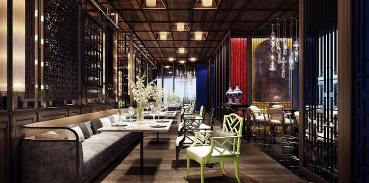 Ambience from Yào Restaurant at Marriott Bangkok Hotel The Surawongse Surawong Road, Si Phraya Bangrak, Bangkok