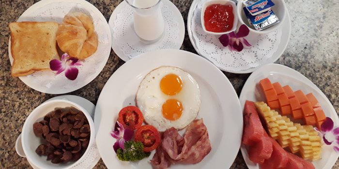 American Breakfast from Bella Vista Oceanfront Terrace Restaurant in Karon, Phuket, Thailand