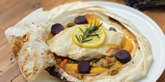 Baked Fish from French St. at O.P.Garden Soi Charoenkrung 36 Charoenkrung Road Bangrak, Bangkok