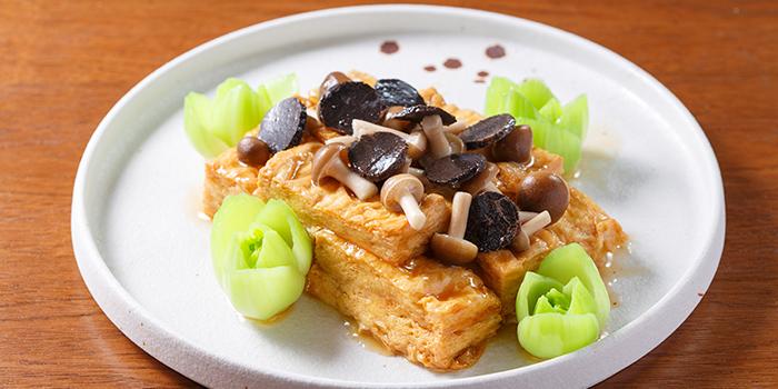 Braised Wild Mushrooms with Truffles and Fries Bean Curd Sheet, Hung Tong, Hung Hom, Hong Kong