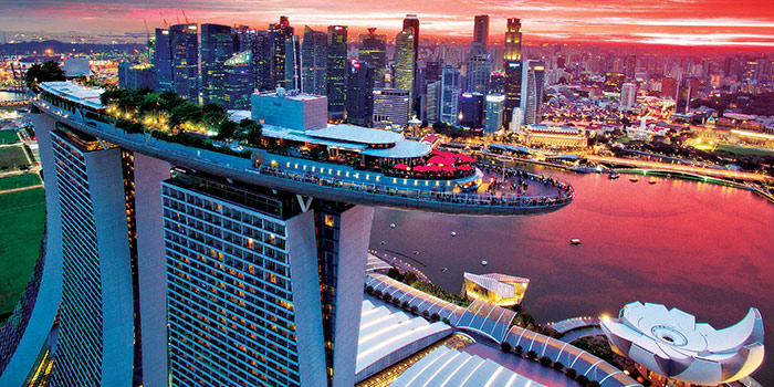 Panoramic View from CE LA VI at Marina Bay Sands in Marina Bay, Singapore