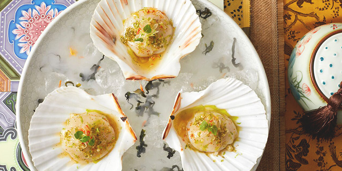 Hokkaido Scallops & Oyster Ceviche from CE LA VI at Marina Bay Sands in Marina Bay, Singapore