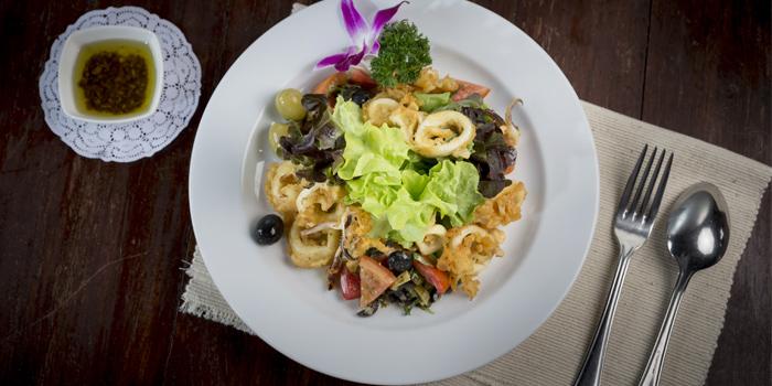Calamari Green Salad from Bella Vista Oceanfront Terrace Restaurant in Karon, Phuket, Thailand