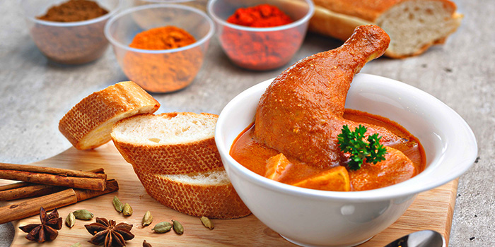 Curry Chicken with Bread from Citrus Bistro at Sengkang Sports Centre in Sengkang, Singapore