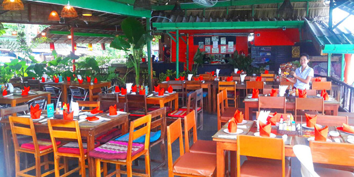 Dining Area of Salsa Mexicana in Patong, Phuket, Thailand.