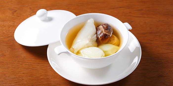 Double Boiled Fish Maw Soup with Black Mushroom and Vegetables, Hung Tong, Hung Hom, Hong Kong