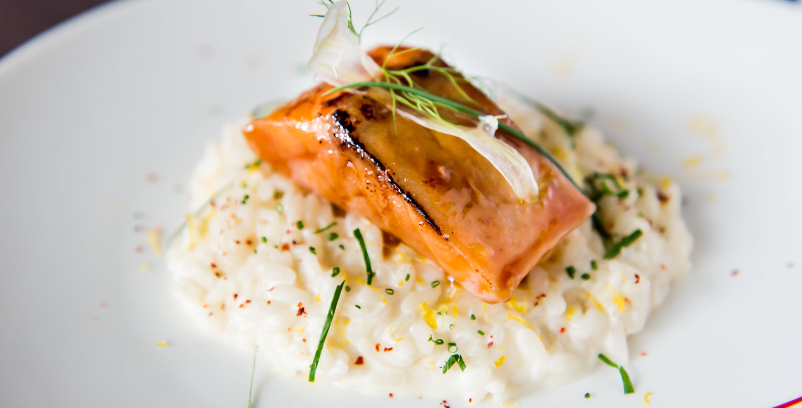 Salmon Confit Risotto from Fumee by Habanos at Millenia Walk in Promenade, Singapore