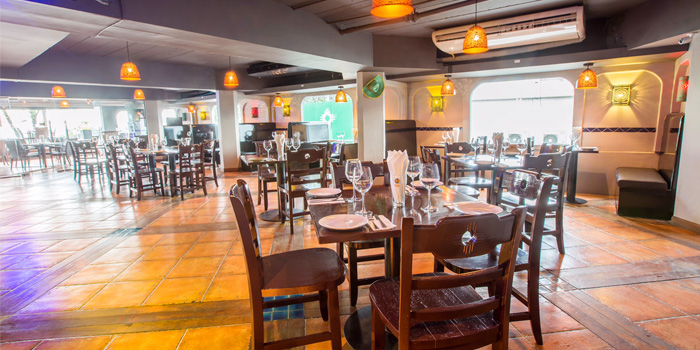 Indoor Dining of Squires Loft Steakhouse Patong in Patong, Phuket, Thailand.