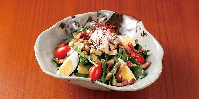 Japanese Pork Bacon Spinach Salad, Wagyu 88, Causeway Bay, Hong Kong